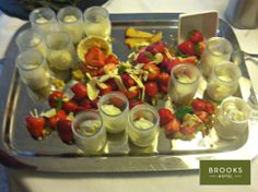 Deconstructed Strawberries and Cream with a white chocolate topping. Chocolate Topping, White Chocolate, Dublin Hotels, Grafton Street, Dublin City, Strawberries And Cream, Strawberry, June, Kitchen
