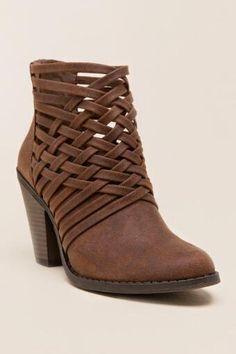 Fergalicious - Weaver Woven Ankle Bootie