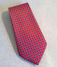 c0486991391a6 Details about Men's~Rene Chagal Handmade Tie~Vintage Golfers Necktie~Blue  Background~Silk EUC