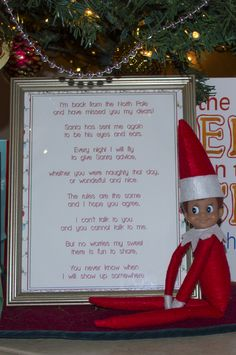 Free Elf on the Shelf Printable - #elfontheshelf #elfonashelf #elf #Christmas #ideas