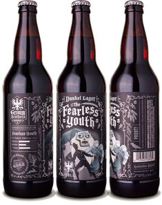 Grimm Brothers Brewhouse Fearless Youth Dunkel Lager - designed by Emrich Office