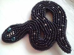 "Брошь ""Змейка""   biser.info - всё о бисере и бисерном творчестве"