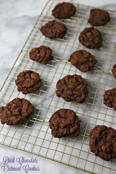 Deep Dark Chocolate Oatmeal Cookies are a sinfully delicious chocolate treat and are ready in no time. Bake up a batch and watch them quickly disappear | Cooking In Stilettos
