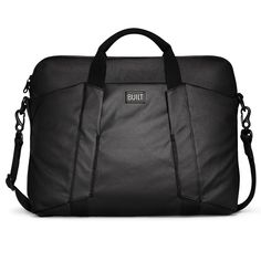 BUILT City Collection Slim Laptop Bag - Black/Charcoal