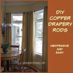 DIY Copper Drapery Rods
