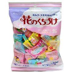 Kasugai Japanese Candy, Hana No Kuchizuke Flower Kiss, 5.1-Ounce Bags (Pack Of 12)