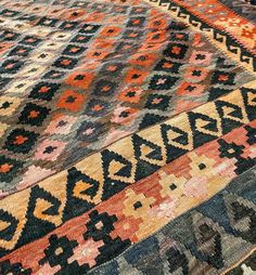 Over the years the natural dyes used in this vintage c.1970's Afghan kilim have oxidised at different rates resulting in the most awesome colour variations.  #vintage #vintagestyle #afghan #kilims #kilim #kelim #colour #1970s #naturaldye #orange #ihavethisthingwithfloors #ihavethisthingwithrugs #sydney #rozelle #decor #handmade #interiors #interiordesign #design #interiordecor #interiordesigner #designer