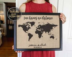Push pin map 2 year anniversary gift for boyfriend valentines day long distance mom christmas gift for mom travel map mother gumiabroncs Images