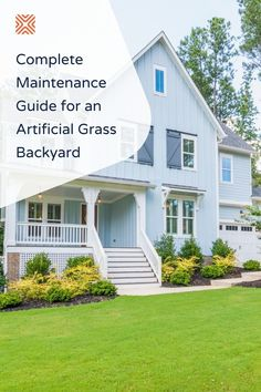 An artificial grass lawn may need less upkeep than a regular grass lawn, but this doesn't mean it's completely maintenance-free! Follow these artificial lawn ideas and easy maintenance tips.