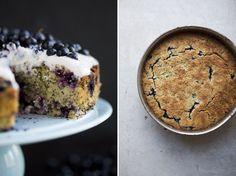 Blueberry, Lemon, Poppy Seed & Almond Cake Hooray, the Swedish forests are down with the blues again! You can literally just take three steps from the porch of our summer house and stand completely surrounded by an ocean of blue gems. Healthy Cake, Vegan Cake, Healthy Baking, Vegan Sweets, Healthy Desserts, Healthy Treats, Dessert Sans Gluten, Paleo Dessert, Sweet Recipes