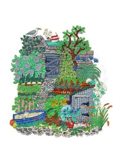 Janet Browne Textiles - Allotments, gardens and hens http://www.janetbrownetextiles.com/page5.htm