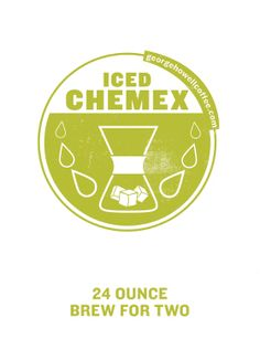 two 12oz cups or 680 grams chemex – 6 cup filters, burr grinder, pouring kettle, digital scale, timer dose: 72 grams grind: drip-fine ice: 180 grams water: 675 grams 201-205° F brew time: 5-6 minutes …