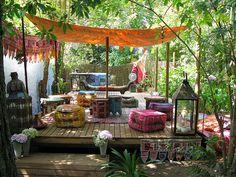 A boho-gypsy sanctuary.
