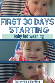 What to feed baby when transitioning to solid foods. Introducing solids into baby's diet with baby led weaning feeding method. The first month of solid foods - 30 days of solid food ideas for baby.   baby-led weaning   blw Baby Led Weaning Breakfast, Baby Led Weaning First Foods, Baby First Foods, First Baby, Feeding Baby Solids, Solids For Baby, Baby Feeding, High Needs Baby, Baby Solid Food