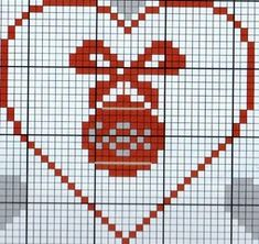 patterns of hand embroidery Xmas Cross Stitch, Cross Stitch Heart, Cross Stitch Cards, Cross Stitching, Cross Stitch Pattern Maker, Counted Cross Stitch Patterns, Cross Stitch Designs, Blackwork Embroidery, Cross Stitch Embroidery