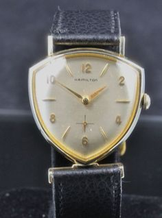 from vintagewatches on Ruby Lane 1959 Hamilton Thor Vintage Men's Watch. from vintagewatches on Ruby Lane Vintage Bulova Watches, Old Watches, Vintage Watches For Men, Vintage Men, Wrist Watches, Analog Watches, Unique Watches, Music Jewelry, Man Jewelry