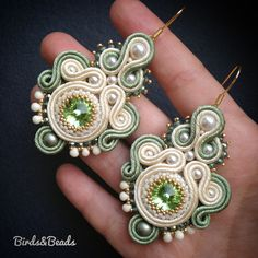 Soutache Necklace, Beaded Earrings, Earrings Handmade, Crochet Earrings, Handmade Jewelry, Boho Jewelry, Beaded Jewelry, Jewelry Design, Unique Jewelry