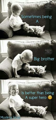 Muslima Shazi - being a big brother vs super hero. So sweet!