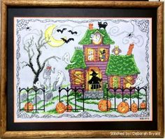 Halloween House - cross stitch pattern designed by Ursula Michael.