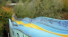 Abandoned water slide Dadipark, Dadizele Belgien