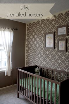 Endless Circles Lattice Moroccan Stencil from Royal Design Studio on painted nursery walls