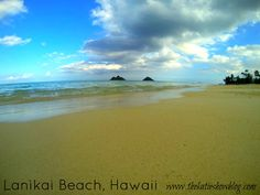 Lanikai - a dreamy postcard beach. Must see and do in Hawaii. One of Hawaii's prettiest beaches!