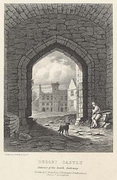 Dudley Castle. Interior of the South Gateway mid 19th century