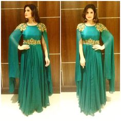 Wearing this beautiful outfit by for an event in Agra. Styled b Lehenga Designs, Kurti Designs Party Wear, Pakistani Formal Dresses, Indian Gowns Dresses, Stylish Dresses For Girls, Wedding Dresses For Girls, Designer Party Wear Dresses, Designer Gowns, New Fashion Gown