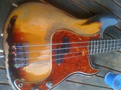 Pre-CBS '64 Fender P Bass -- My mother in law owns one of these -- it's incredible.
