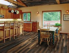 This gorgeous wood flooring from Addison/Dicus provides an instant wow factor. #housetrends https://www.housetrends.com/specialist/Addison-Dicus-Bailey-Company-Inc