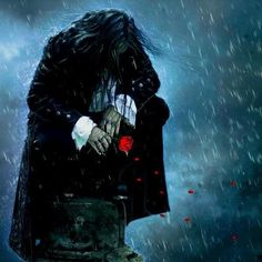 lost fantasi, vampir, gothic art, digital art, roses, inspir, dark fantasy, daniel priego, rain