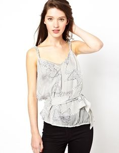 Shop Traffic People Zebra Bow Print Cami Top at ASOS. Cami Tops, Fashion Online, Latest Trends, Asos, Camisole Top, People, Stuff To Buy, Shopping, Search