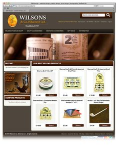 Ecommerce web design for Wilson & Co. Sheffield