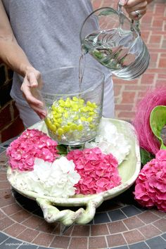 DIY Projects   Hydrangea Centerpiece   Bright Bold and Beautiful