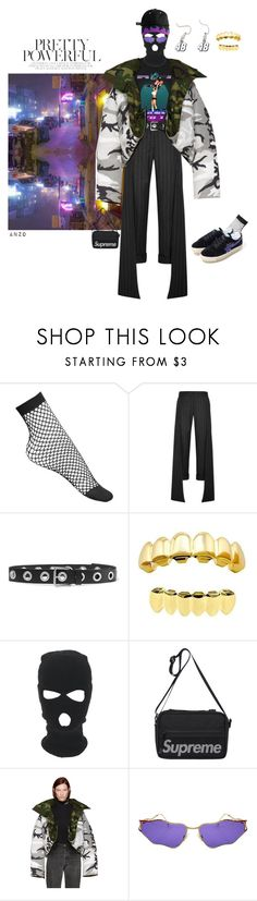 """""""BUT I'M NOT A RAPER"""" by mwamini-anzo ❤ liked on Polyvore featuring Lamoda, A BATHING APE, Hellessy, Rockins and Vetements"""