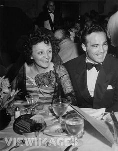 Edith Piaf Here with Marcel Cerdan, the love of her life!