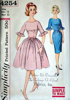vintage 60 s Simplicity 4254 Sewing Pattern 7469b7149bc4