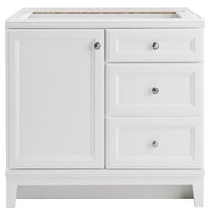 Diamond FreshFit Calhoun White Bathroom Vanity (Common: 36 In X 21 In