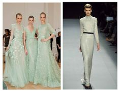 stunning minty gowns.
