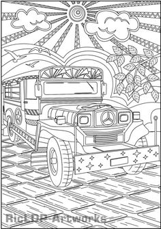 Philippine national house coloring page unit study for Filipino coloring pages