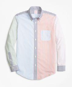 41b580327bce0 Non-Iron Madison Fit Fun Stripe Sport Shirt - Brooks Brothers