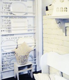 recipe wall to display platters