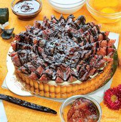 Torta di fichi freschi e cioccolato