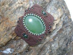 Купить Браслет с натуральным байкальским нефритом - украшения ручной работы, браслет, Браслет ручной работы