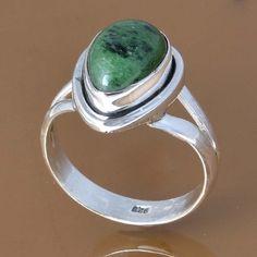 925 SOLID STERLING SILVER RUBY ZOSITE RING 4.55g DJR7578 SZ-6 #Handmade #Ring