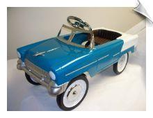 1955 Classic Pedal Car - Aqua and White