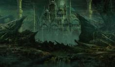 THE DEAD CITY Magic: The Gathering Play Mat by ArtOfRobAlexander