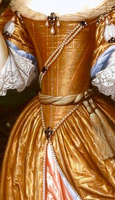 Gold Aesthetic, Orange Aesthetic, Renaissance Jewelry, Renaissance Art, Medieval Princess, 17th Century Fashion, Aesthetic Painting, Classic Paintings, Period Costumes