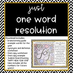 New Year Bundle Math Escape Activity, Just One Word Resolution, Discussion Start New Years Activities, Literacy Activities, Teaching Resources, Winter Activities, Teaching Ideas, Elementary Teacher, Teacher Pay Teachers, Going Back To School, Middle School
