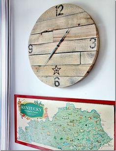 DIY reloj de pared con palets de madera
